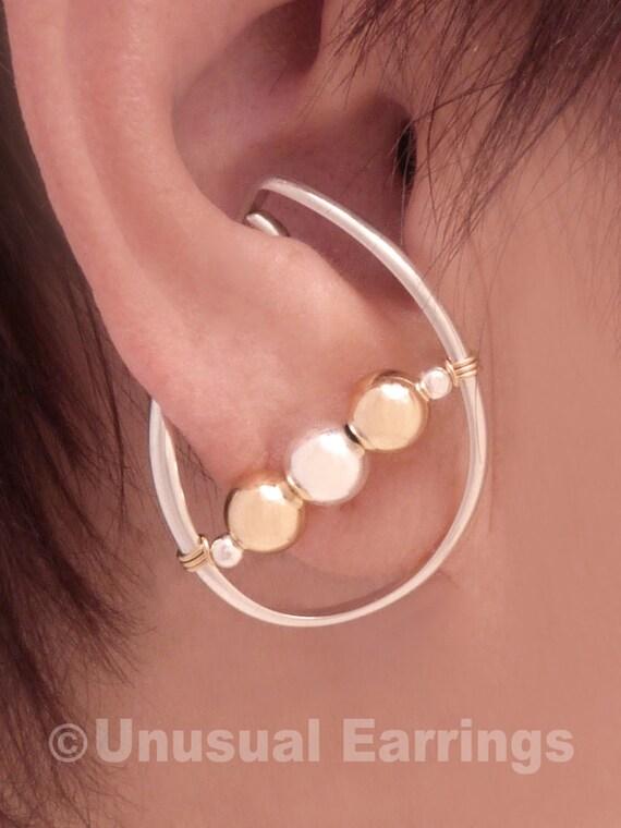 Non Pierced Earrings Sterling Silver Unpierced Earrings Ear Etsy