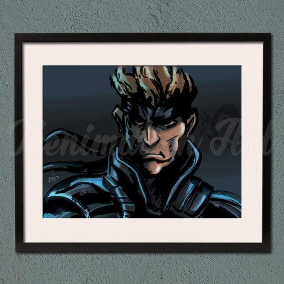 Metal Gear Solid Solid Snake Art Print Playstation Video Game Fan Art