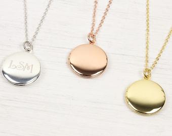 d4bb93d3f0 Personalizzato piccolo oro rotondo medaglione collana, piccola foto  immagine Locket collana rosa oro argento gioielli di nozze di Natale regalo  di ...