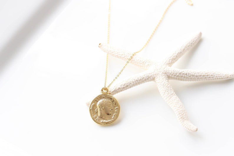 67a19654613bc Gold Coin Necklace Boho Necklace, Roman Ancient Greek Vintage Coin Necklace  Jewelry Medallion bohemian layering necklace Gift for her Dainty