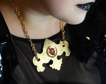 One of a kind Anatomical Heart necklace