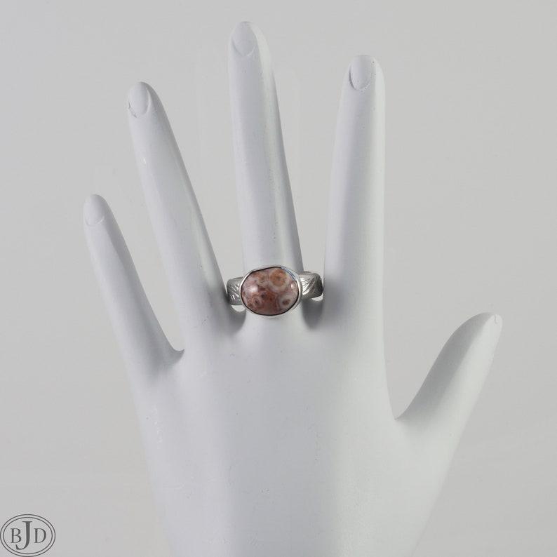 Pink Lake Superior Thomsonite Sterling Silver Ring