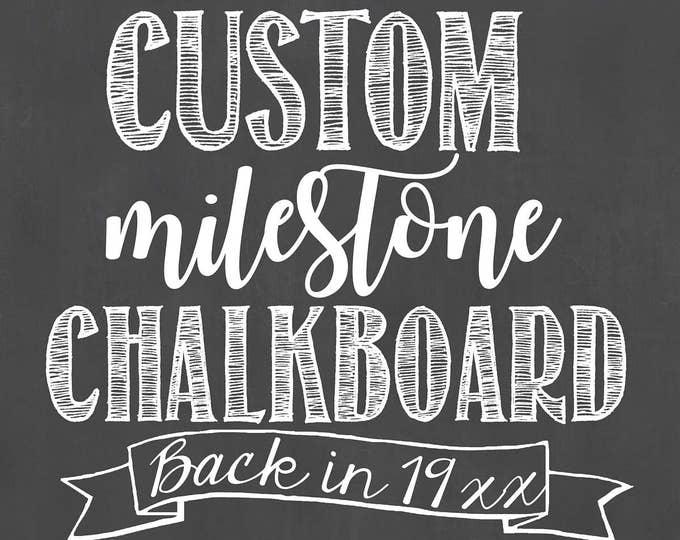 Custom Birthday Chalkboard/Custom Milestone Birthday Chalkboard/ Back In Birthday Board/Back In Fact Chalkboard/Birthday Chalkboard/Digital