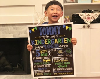 First Day of School Chalkboard / First Day of Kindergarten Sign /First Day of School Sign /Back to School / Printable First Day Chalkboard