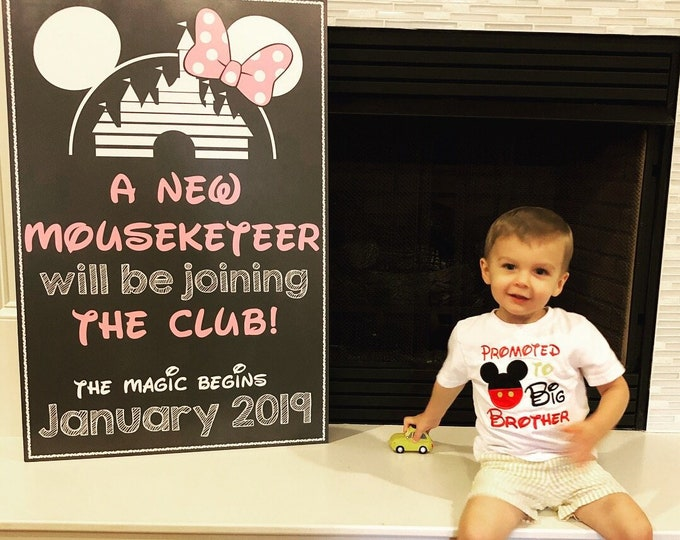 Minnie Mouse Pregnancy Sign /  Disney Pregnancy Announcement / Disney Pregnancy Reveal /Disney Princess Sign /Minnie Mouse Pregnancy Sign