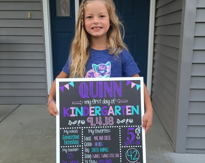 First Day of School Chalkboard / First Day of Kindergarten Sign /First Day of School Sign /First Day of Kindergarten Sign / Digital File