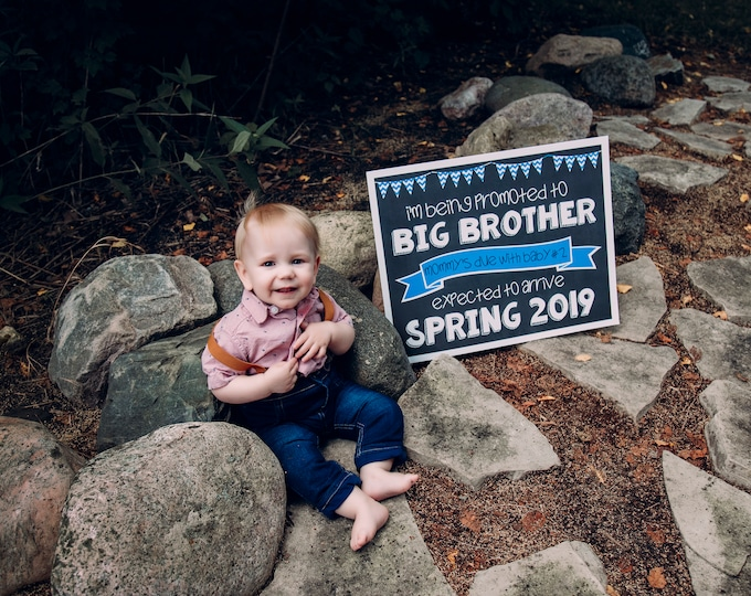 Promoted to Big Brother Chalkboard/ Big Brother Chalkboard Sign / Going to Be Big Brother Chalkboard / Promoted To Big Brother Announcement