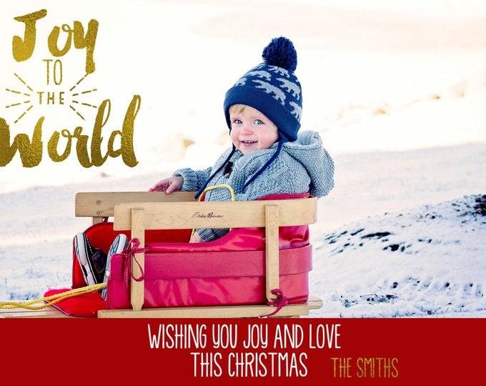 Printable Photo Christmas Card / Holiday Card / Merry Christmas Card / Custom Holiday Card / Merry Christmas Happy New Year Holiday Card