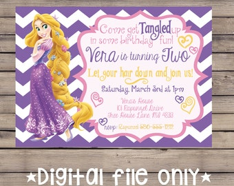 Tangled Birthday Invitation / Rapunzel Birthday Invitation / Tangled Rapunzel Birthday Invitation / Rapunzel Birthday Invite / Printable