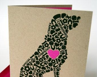 Dog Sympathy Card, Loss of Dog Card, Pet Sympathy Card