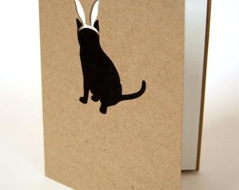 Easter Cat Card, Bunny Ears