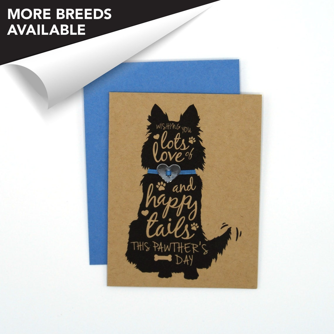 collie border collie dog fathers day card pawther's  etsy