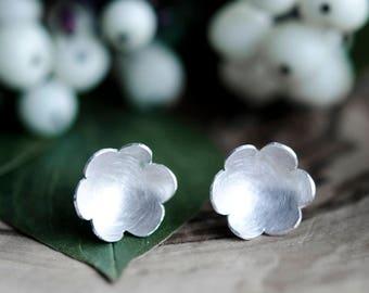 Small Flower Earrings   Flower Sterling Silver Earring    Sterling Silver Stud Earrings   Flower Earring   Everyday Earrings   Mothers Day