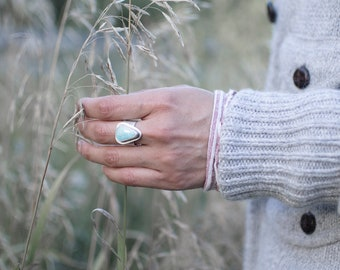 Joy Ring | Sterling Silver Ring | Silver Ring | Turquoise Ring | Canadian Jewellery | Handmade Ring