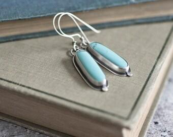 Blue Sky Earrings | Turquoise Earrings | Sterling Silver Earrings  | Dangle Drop Earrings | Women's Gifts | Canadian Jewellery