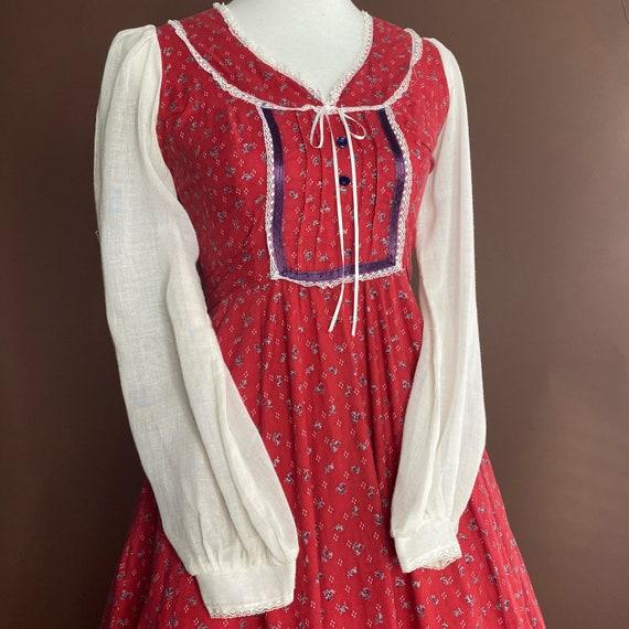1970s Vintage Gunne Sax Midi Prairie Dress - image 2
