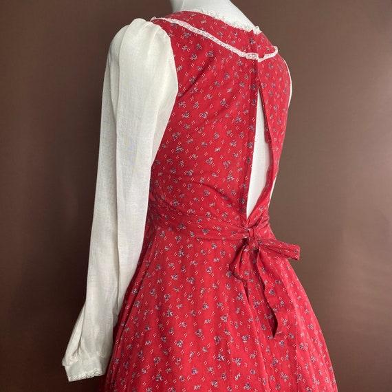 1970s Vintage Gunne Sax Midi Prairie Dress - image 4