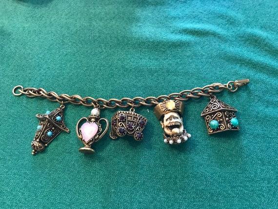 """Vintage Florenza charm bracelet — 7"""" long - image 1"""