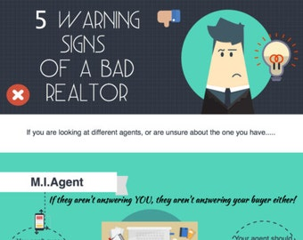 Real Estate Marketing Infograph Branded -  5 Warning Signs