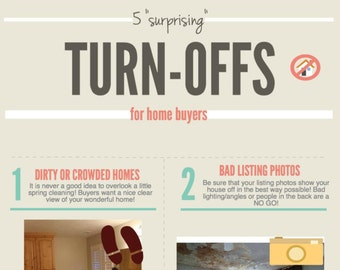 Real Estate Marketing Infograph Branded - 5 Turn-Offs 4 Buyers