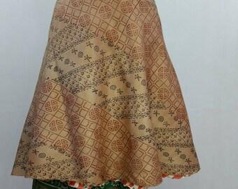 indian silk wrap skirt