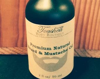 Premium Natural Beard & Mustache Oil, Beard Tamer, Serum, Facial Hair, Mens Grooming, Moustache, Natural Beard Oil
