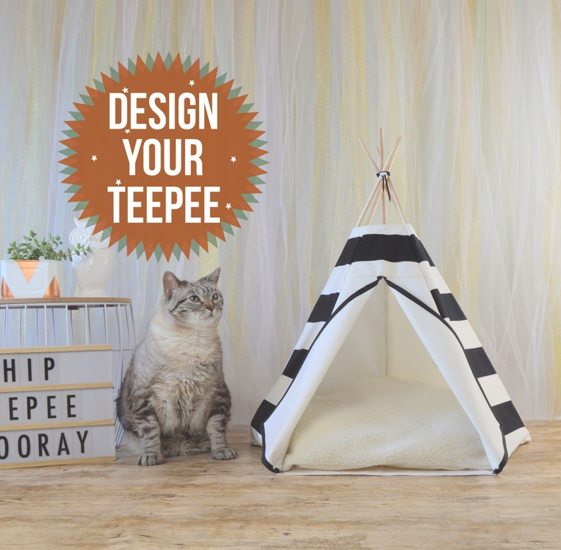 Pet bed cat teepee cat house cat tree pet furniture cat image 0