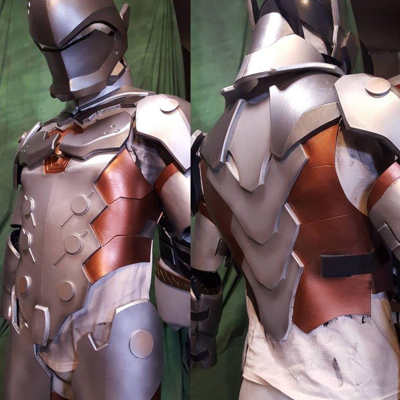 Genji Overwatch foam Cosplay TEMPLATES full armor image 0