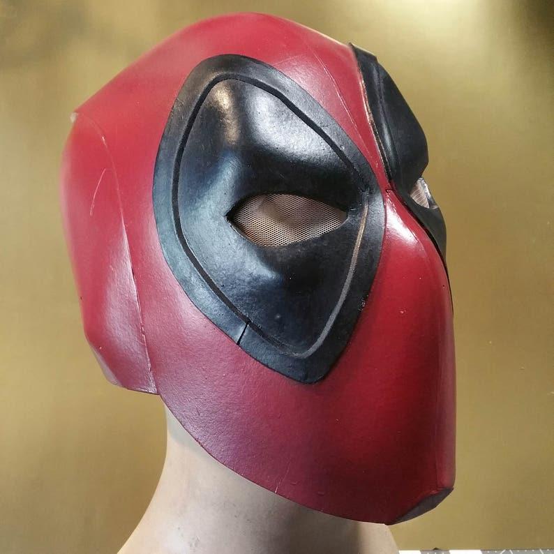 Deadpool Mask Template   Deadpool Foam Helmet Templates Etsy