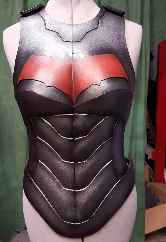 Redhood female body only foam armor templates etsy image 0 maxwellsz