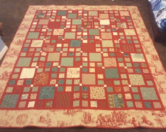 French General Red Quilt