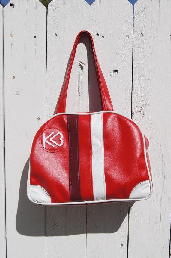 KB retro bowling style purse