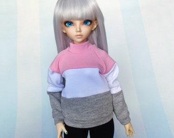 BJD MSD Clothes, Striped SWEATSHIRT for Minifee Girl or Boy