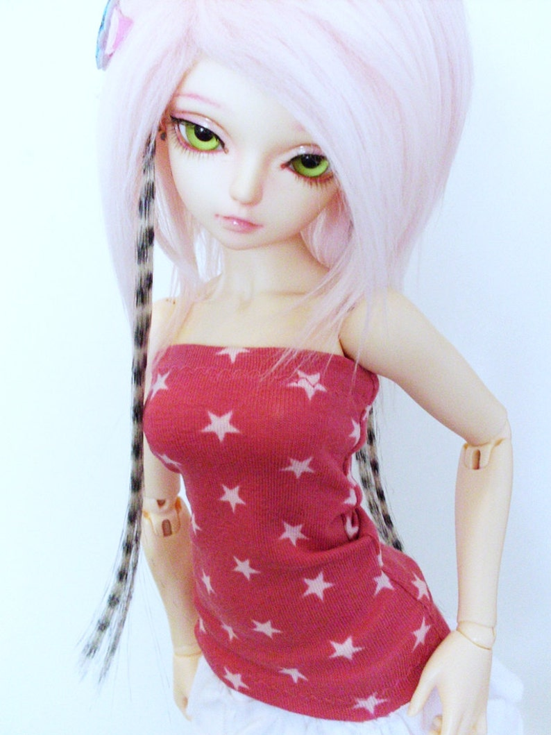 3750511620e Pink Star BJD Tube Top Kawaii Minifee Top Bjd Lingerie