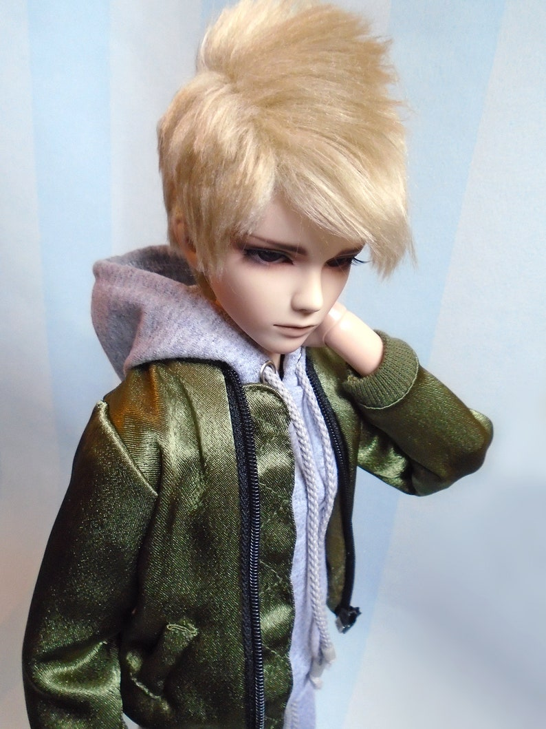 Cool Casual Baseball Shirt 2 Color Options for BJD YOSD 1//6 Size Doll Clothes