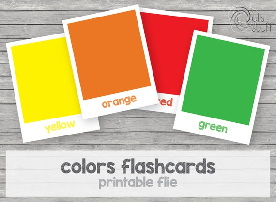photograph regarding Colors Flashcards Printable called Printable youngsters shades flashcards, english through Duls Things