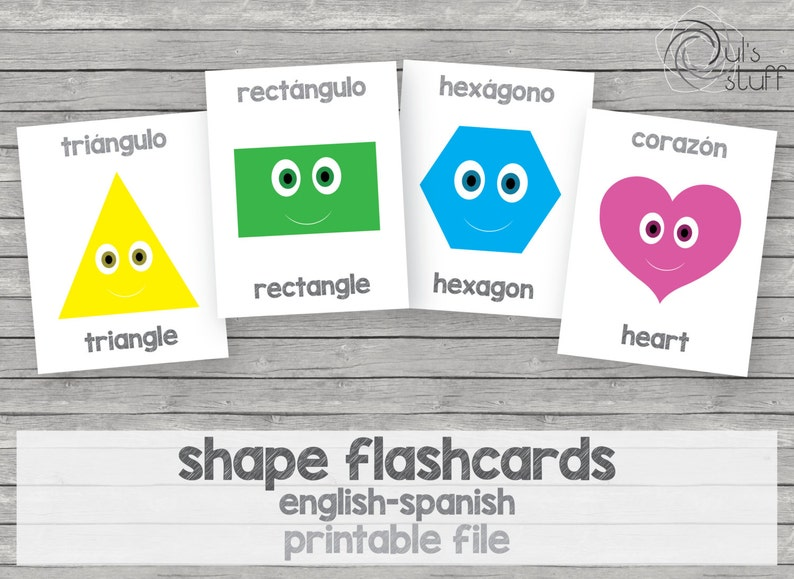 photograph regarding Spanish English Flashcards Printable named Printable little ones condition flashcards, english-spanish