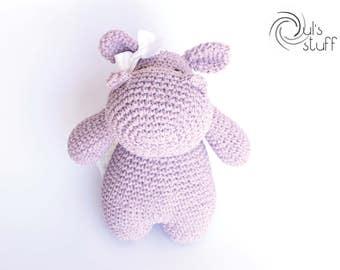 Hippo amigurumi, crochet hippo