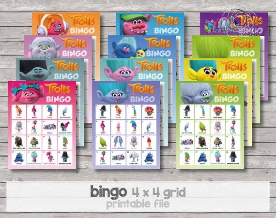 Y Bingo 2 Tablas Página TrollsCuadrícula 41 X Por 4 Tabla Página De lOwPkiuTXZ