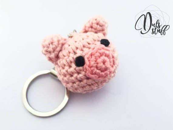 How to crochet fox keychain amigurumi - Amigu World | 428x570