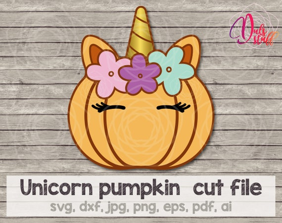 Unicorn Pumpkin Face Orange Svg Unicorn Pumpkin Cricut Unicorn Pumpkin Silhouette Cut File Svg Dxf Jpg Png Eps Pdf Ai By Dul S Stuff Catch My Party