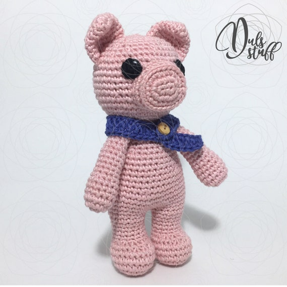 Tutorial Peppa Pig Amigurumi in English | Lanas y Ovillos in ... | 570x570