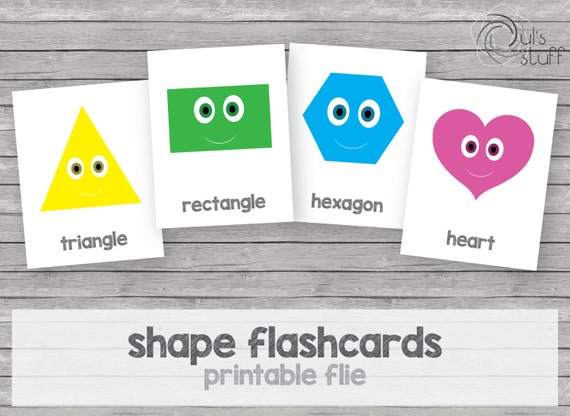 picture relating to Printable Shape Flashcards known as Printable youngsters form flashcards, english as a result of Duls Things