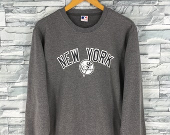 65e0e4b27 New York YANKEES Crewneck Jumper Large Vintage 90 s Major League Baseball  Baseball Team Sweater NY Yankees Pullover Gray Sweatshirt Size L