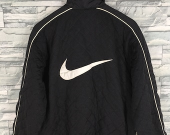 1c3789dce2 Vintage 90 s NIKE Windbreaker Jacket Medium Nike Swoosh Nike Air Black  Sportswear Nike Jacket Sports Nike Training Size M