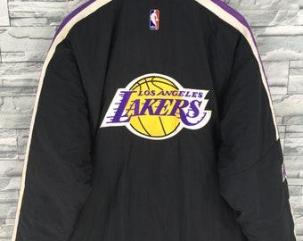 528fc92d344 LA LAKERS Jacket Medium Bomber Starter Jacket Nba Basketball Sportswear Los  Angeles Lakers Embroidery Sports Windbreaker Jacket Size M