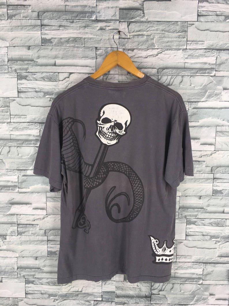 26183d98 Vintage 90's STUSSY T shirt Large Stussy Usa Bones Skull   Etsy