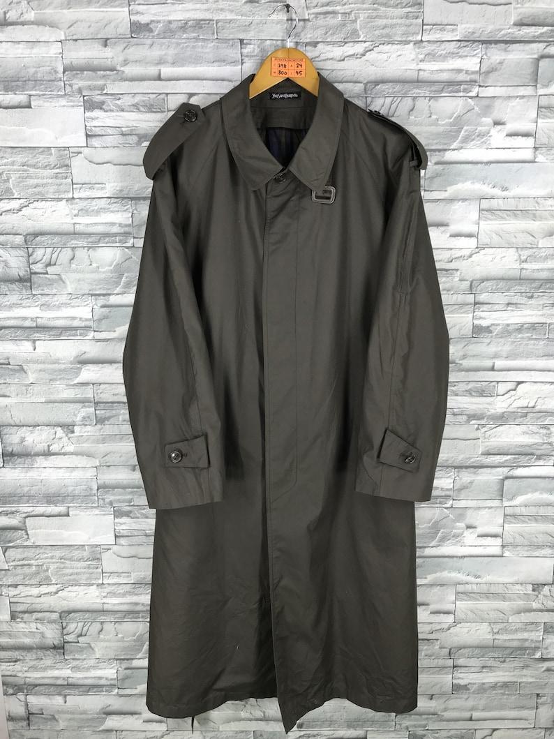 fe368679091 YSL Yves Saint Laurent Long Coat Jacket Vintage Saint Laurent   Etsy