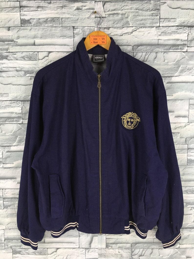 980eb6718ee28 VERSACE Jeans Couture Jacket Large Men Women Dark Blue Gianni