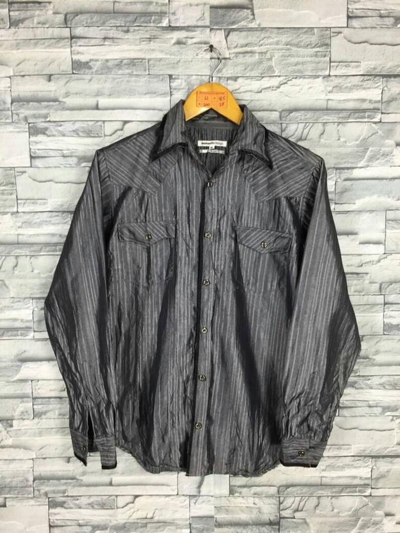 Oxfords Shinning nero camicia Buttondown stilista Yohji di Y  03d5ab5be52